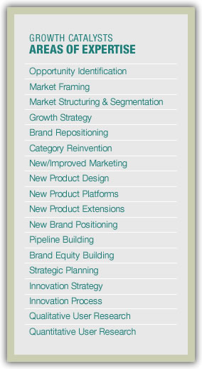 Growth Catalysts - Our expertise